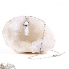 Pendant - Howlite stone necklace