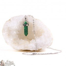 Pendant - Necklace artificial Malachite stone