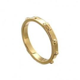 Christian cross Roarye Ring - 18 carat gold plated