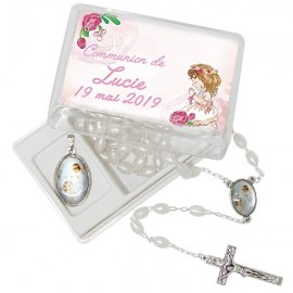 Rosary and medal gift box