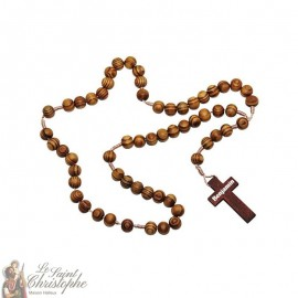 Rosary in natural olive wood customizable