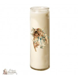 Candle 7 days in glass Vintage Angel - doves
