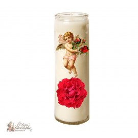 Candle 7 days in glass Vintage Angel - Rose