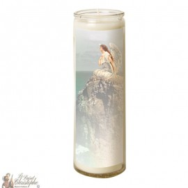 Candle 7 days in glass Angel - seaside