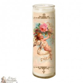 Candle 7 days in glass Vintage Angel - Small waiter