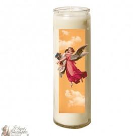 Candle 7 days in glass Vintage Angel - orange sky