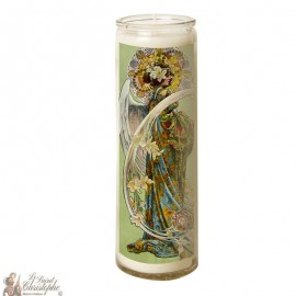 Candle 7 days in glass Angel - Art nouveau