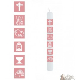 Girl communion candle - customizable