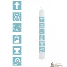 Boy communion candle - customizable