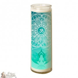 Candle 7 days in glass symbol Aum