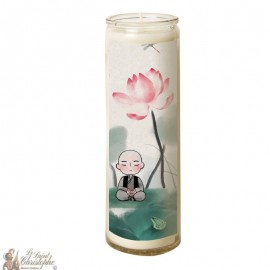 Candle 7 days in glass small zen Buddhas