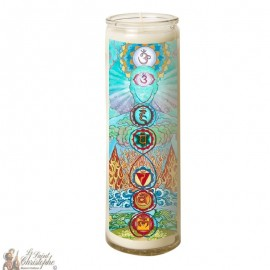 7 day candle in glass Chakras - Elements