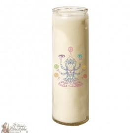 Zen Chakra glass candle 7 days - Shiva