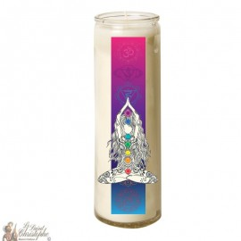 7 days glass Chakras candle - Yoga