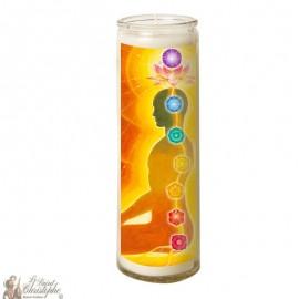 7 Day Candle in Glass Chakras - Kundalini