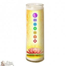 Zen chakras glass candle 7 days - lotus