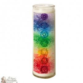 7 days glass Chakras candle - Pastel
