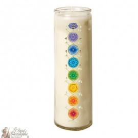 7 days glass candle Chakras - Buds