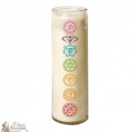 Zen Chakra glass candle 7 days - Symbol