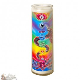 7 days dragon Chakras glass candle