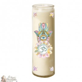 7 days candle in hand made glass Fatma