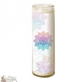 Candle 7 days in mandala glass