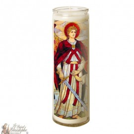 Candle 7 days in glass Holy Rafael Archangel