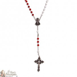 Rosary of Divine Mercy Red Agate Health Stone