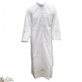 Dawn White zipper - cotton for priest or acolyte