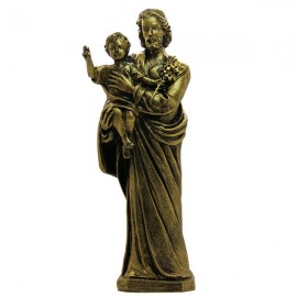 Statue at St. Teresa of Lisieux Marble powder bronze color