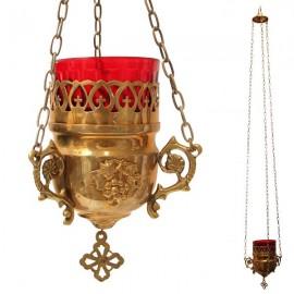 Antique Greek copper lamp - mural
