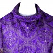 Chasuble with purple stole embroidered gold thread