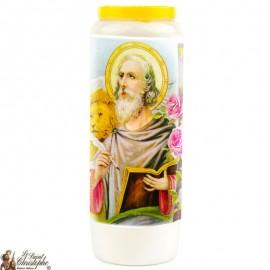 Novena candle to Saint Mark