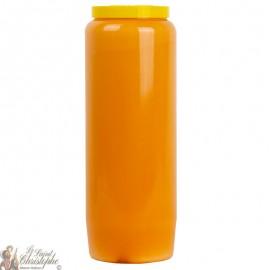 Candela novena arancione