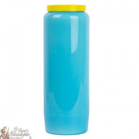 Light blue novena candle
