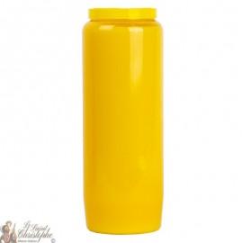 Candela di novena gialla