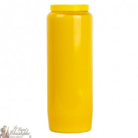 Yellow novena candle