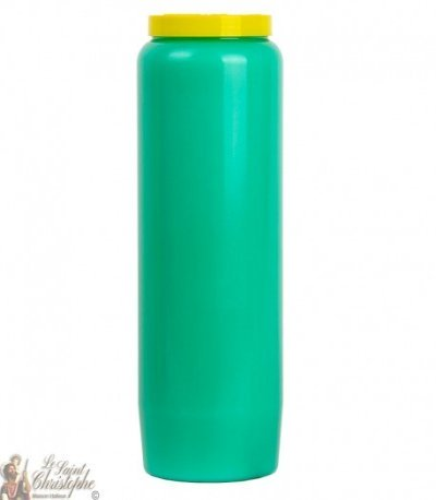 Green novena candle