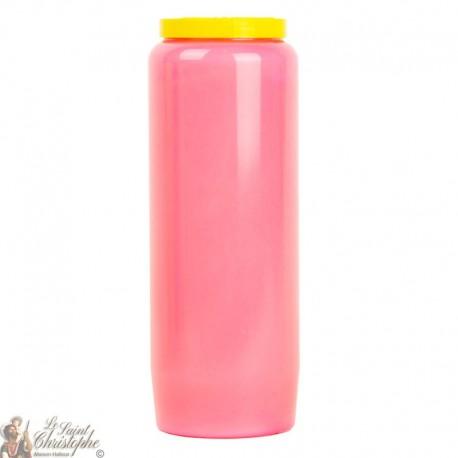 Pink novena candle