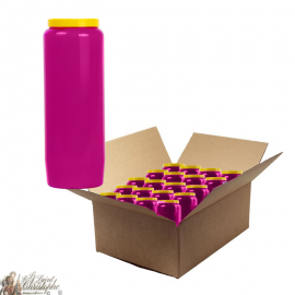 Purple novena candle - cardboard box 20 pieces