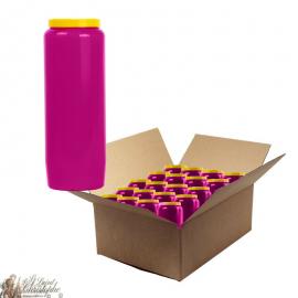 Purple novena candle - cardboard box 20 pieces