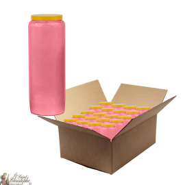 Pink novena candle - box of 20 pieces