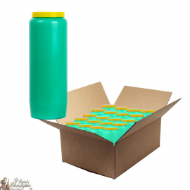 Green novena candle - cardboard box 20 pieces