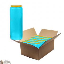 Novena candles light blue - box of 20 pieces