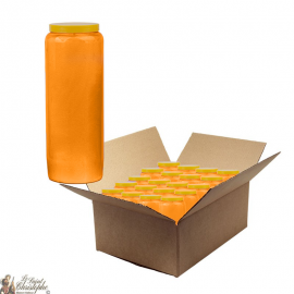 Orange novena candles - box of 20 pieces