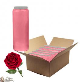 Candele Novena profumate di rosa - scatola da 20 pezzi