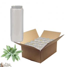Novena candles perfumed with sage - box of 20 pieces