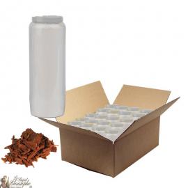 Candele Novena profumate con legno di sandalo - scatola da 20 pezzi