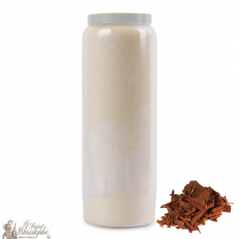 Novena candle perfumed with sandalwood