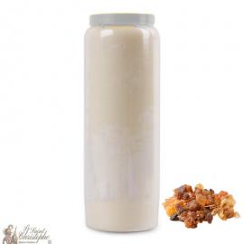 Bougie de neuvaine blanche parfumée Myrrhe